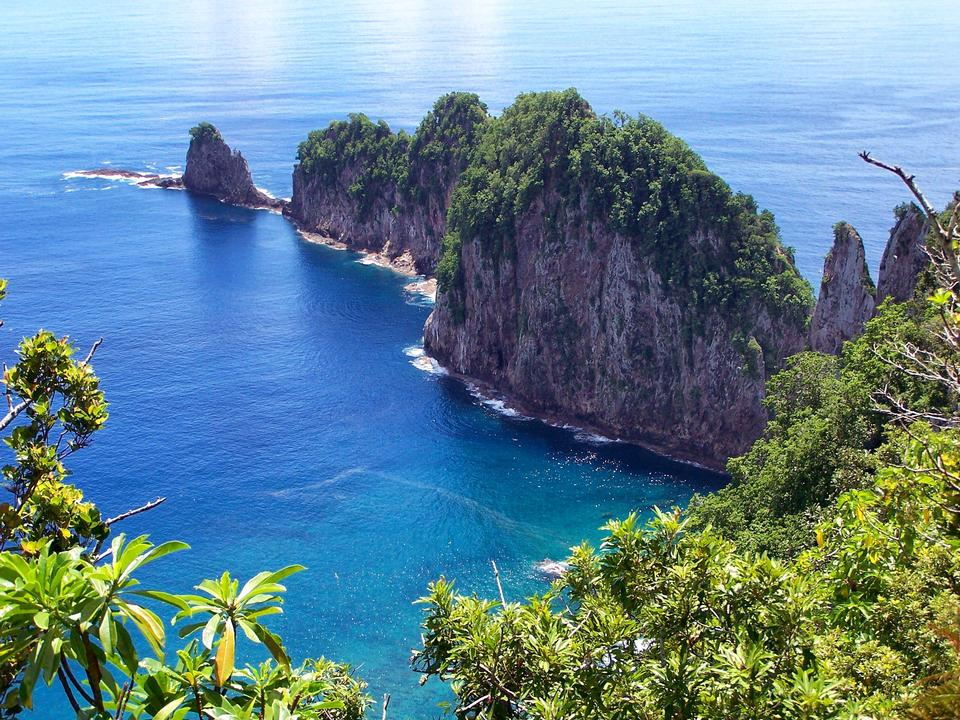 Landscape American Samoa Island