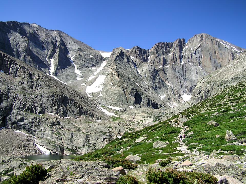 コロラド州ロッキー山脈でボレアスパスで風景