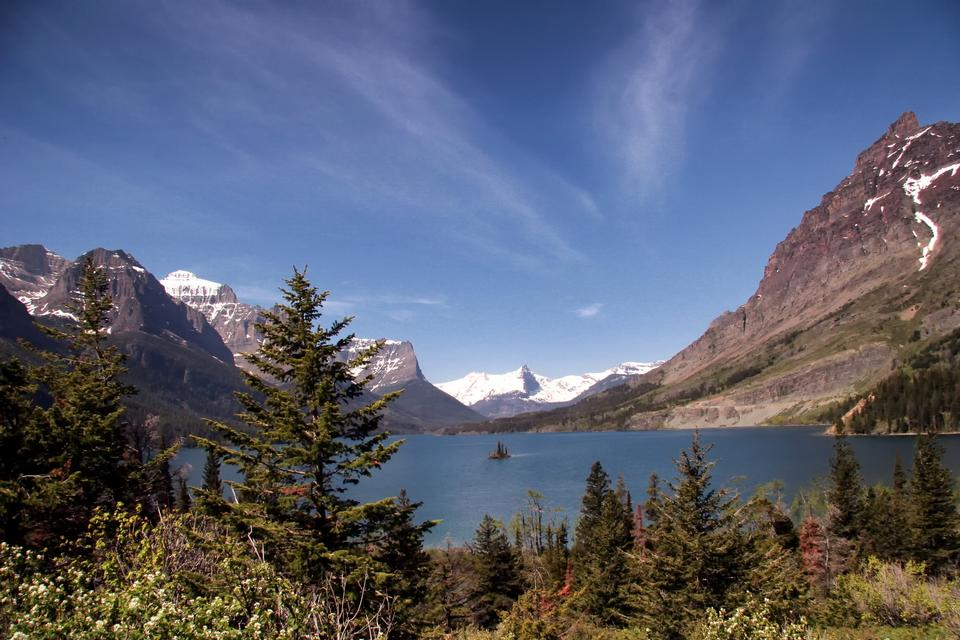 Clearing storm clouds of Glacier National Park