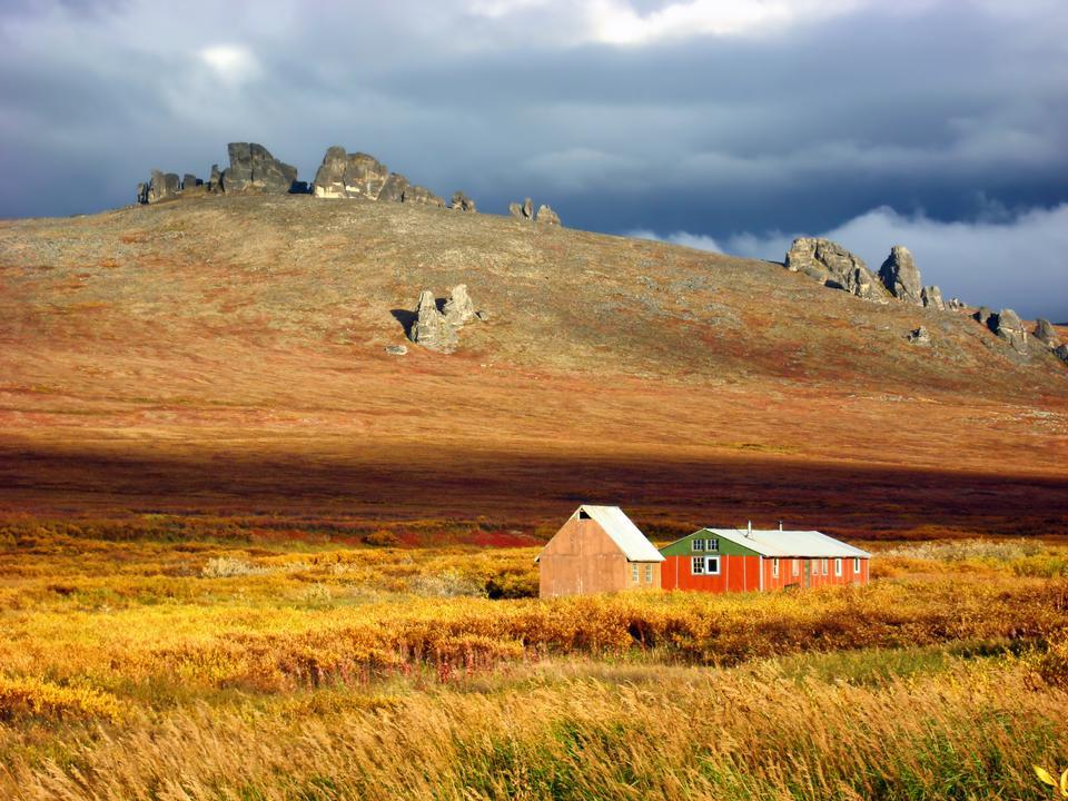 Падение цвет на Аляске