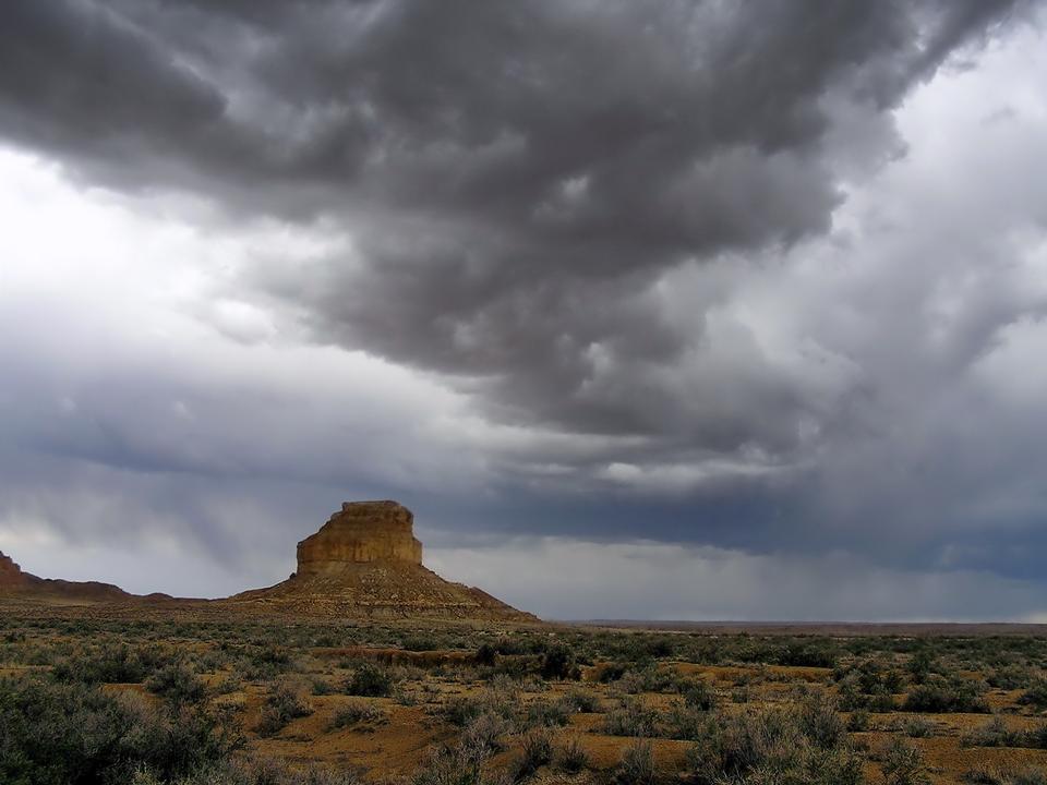 風景在新墨西哥州附近的幽靈牧場