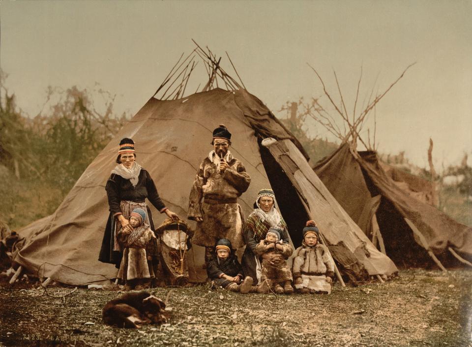 Une famille Sami en Norvège