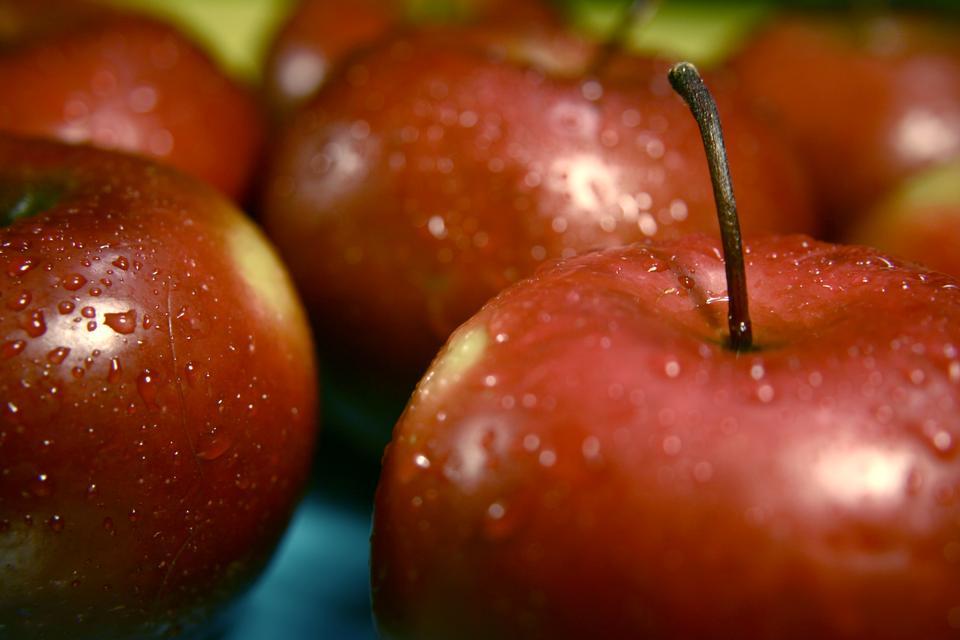 特寫紅蘋果