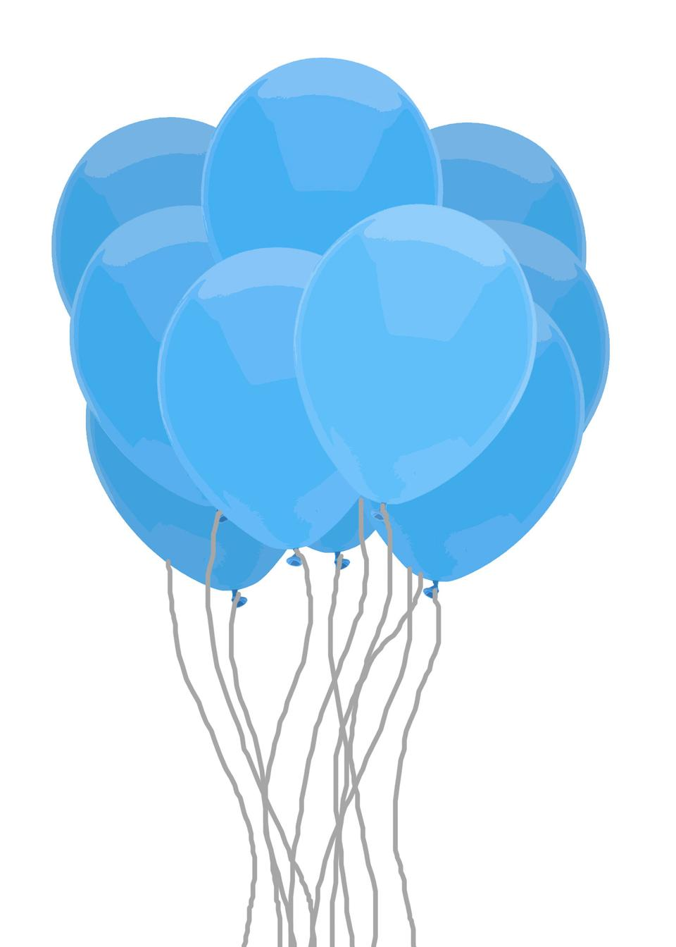 Blue Bunch Of Balloons