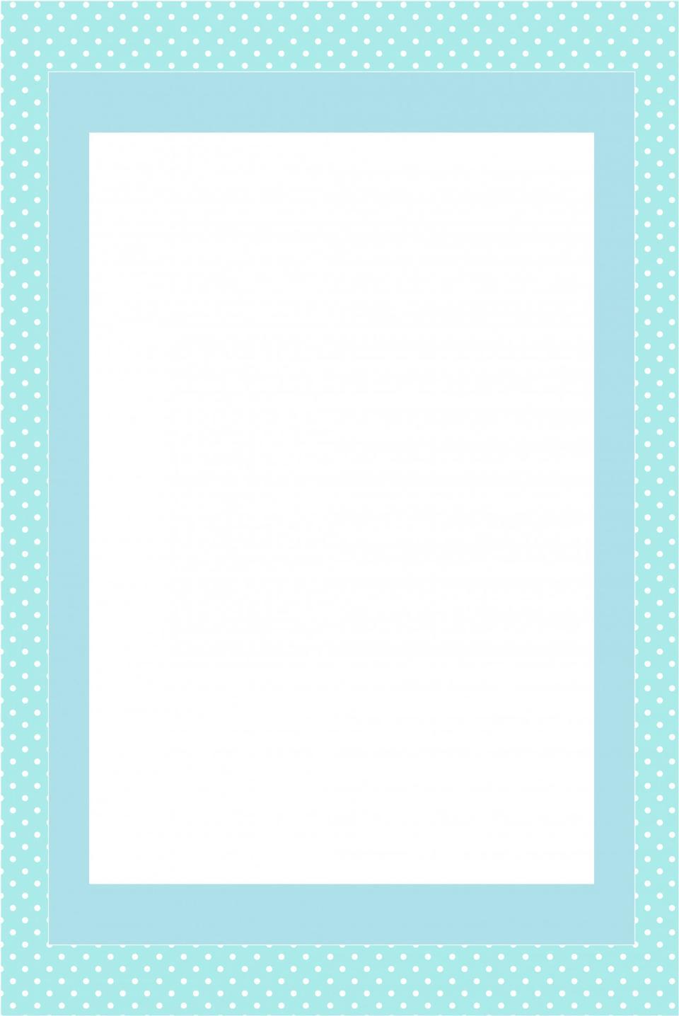 ブルー招待カードフレーム