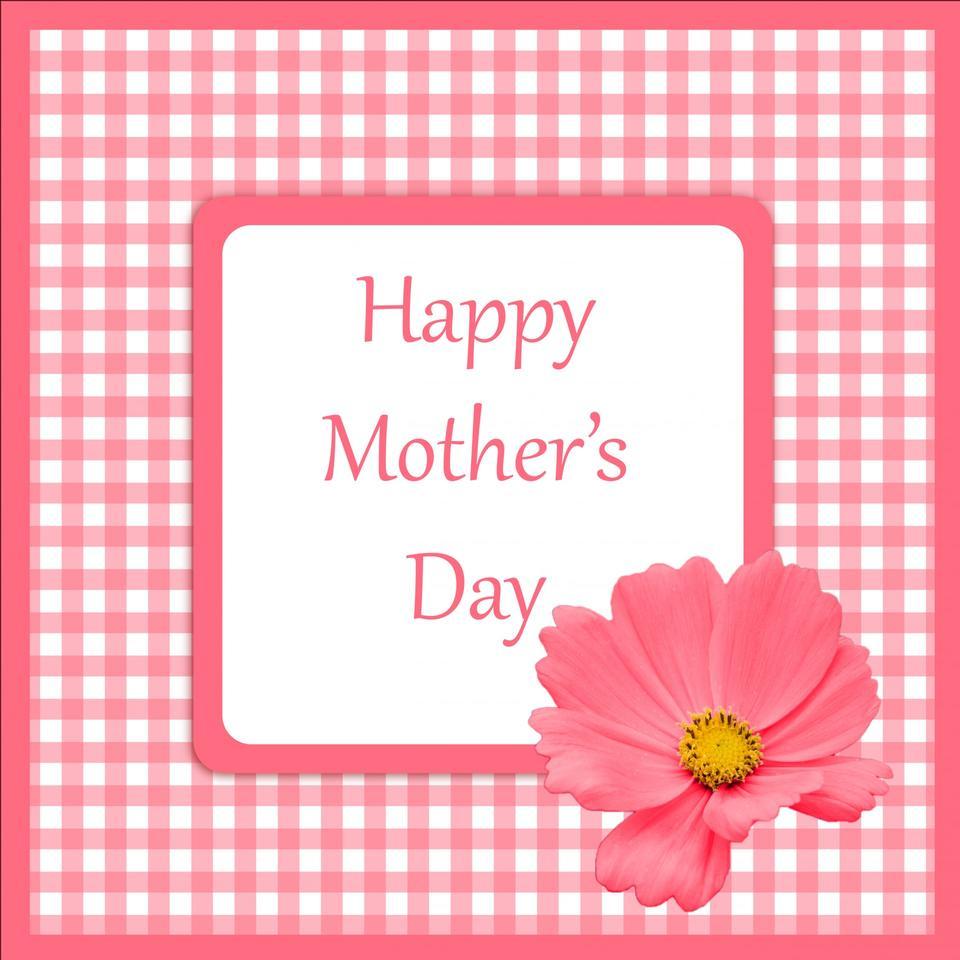 母亲节卡粉红色