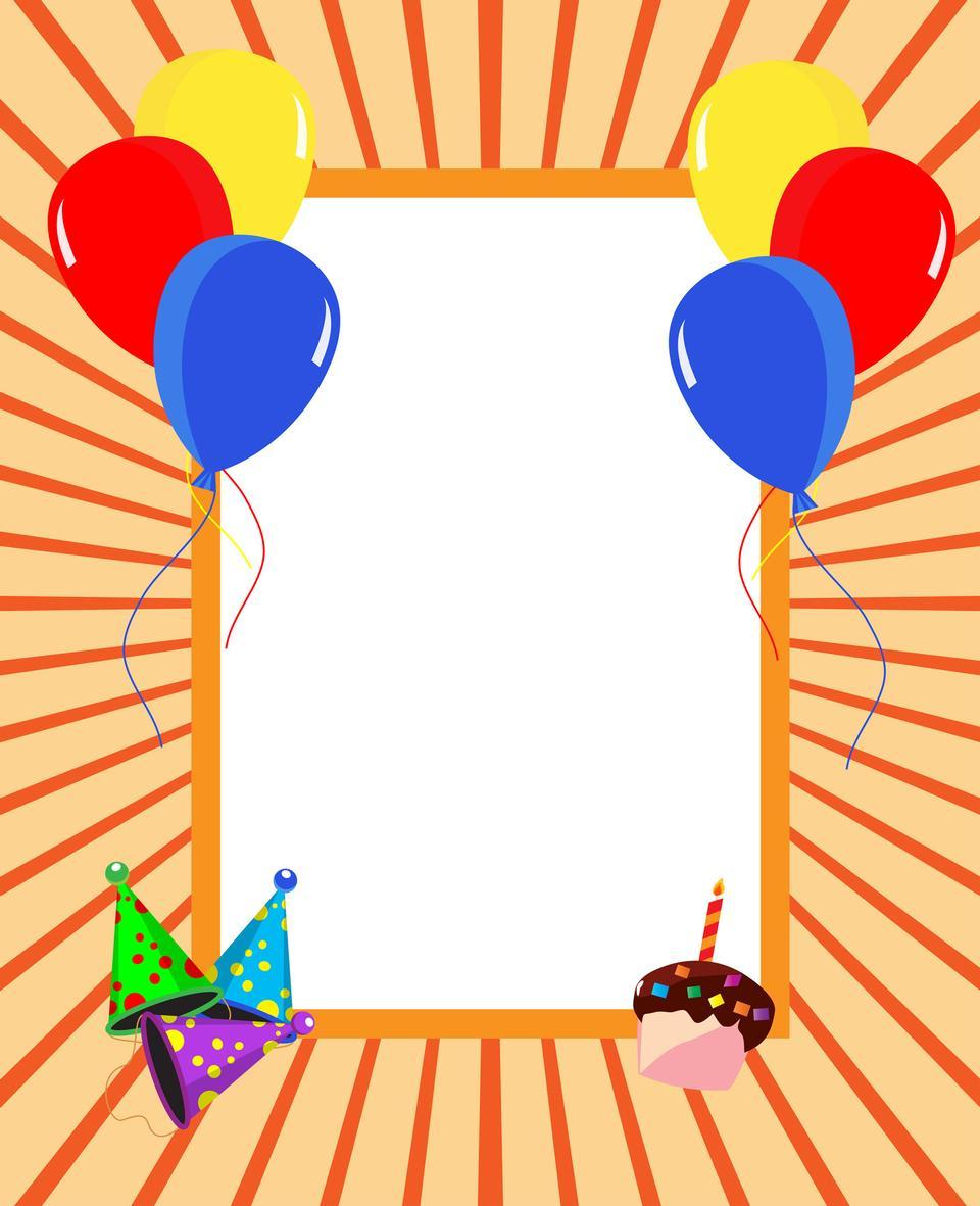 パーティーの招待状カード