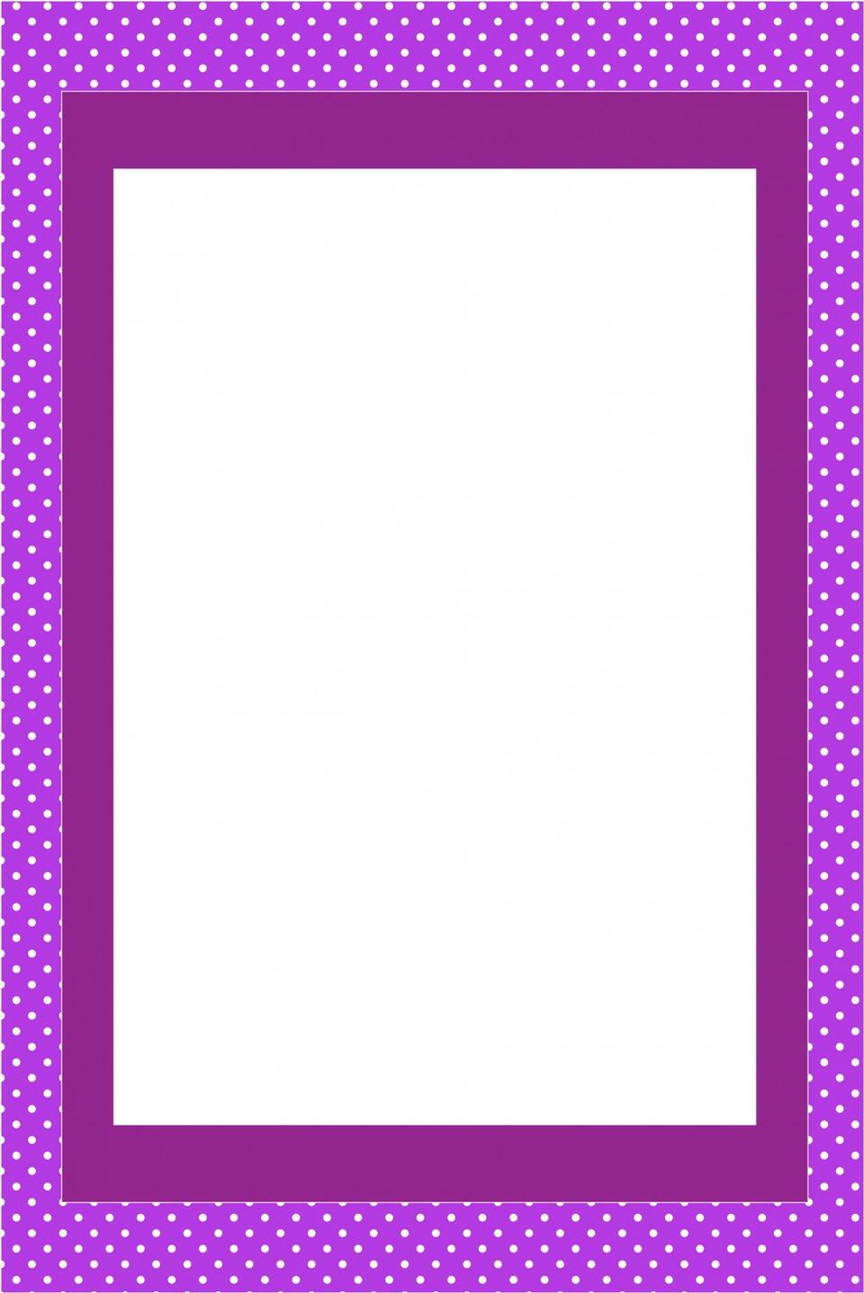 パープル招待カードフレーム