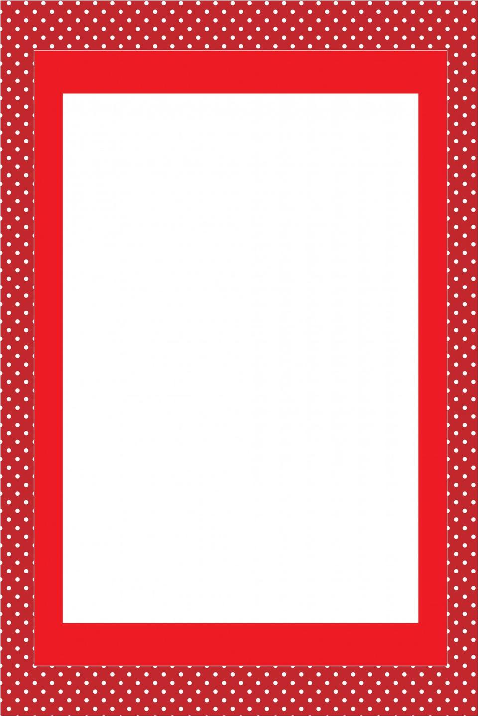 レッド招待カードフレーム