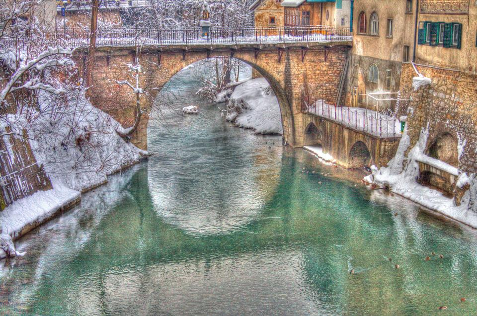 Snow and the bridges