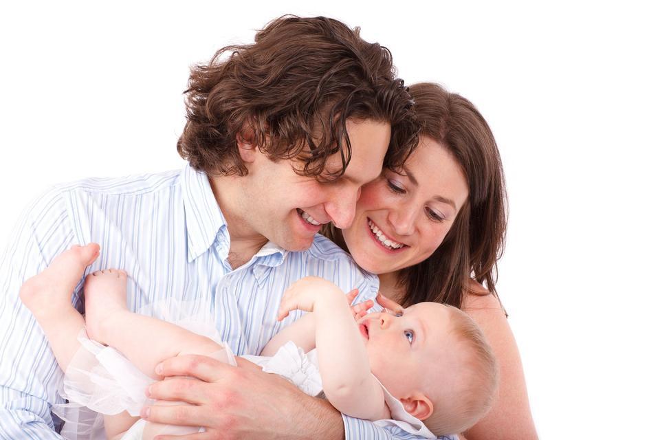 Детские ребенка лицом Семья Отец и Мать