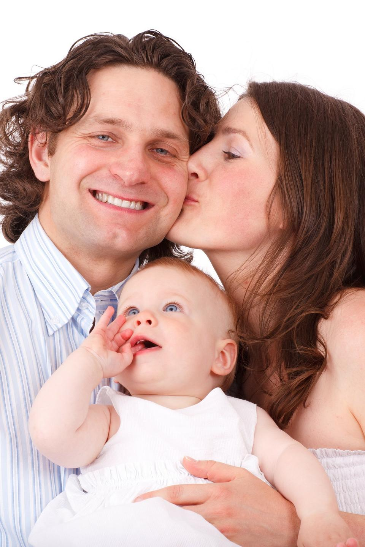 Bebé Bambino faccia Famiglia Padre e Madre