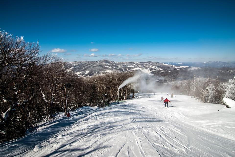 On ski slopes at sugar mountain NC
