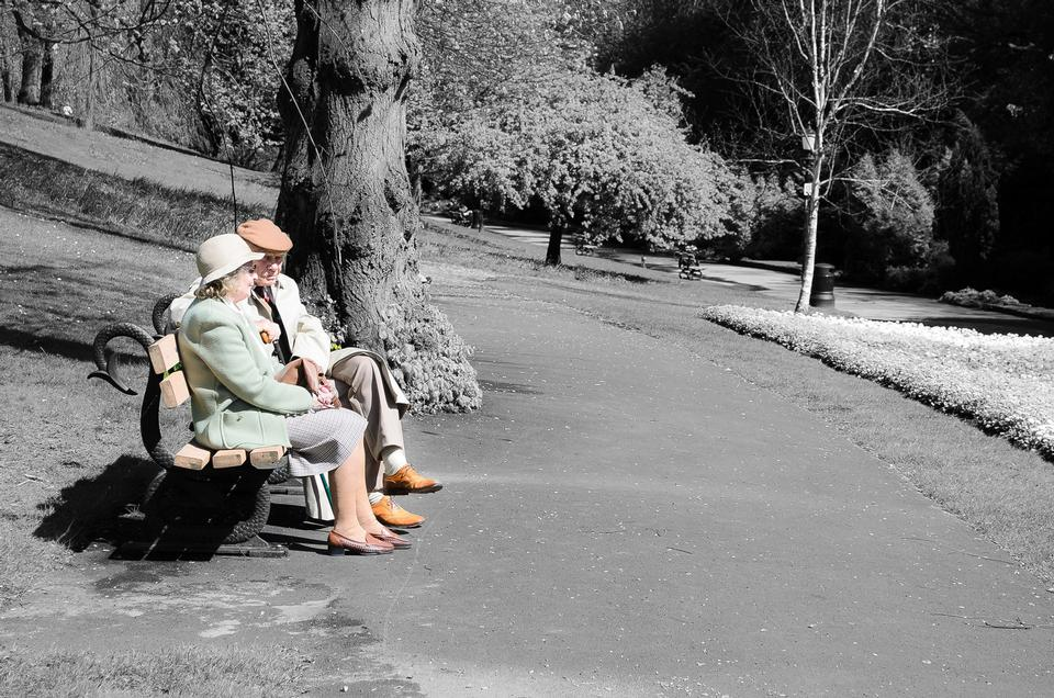 People on Park Benches