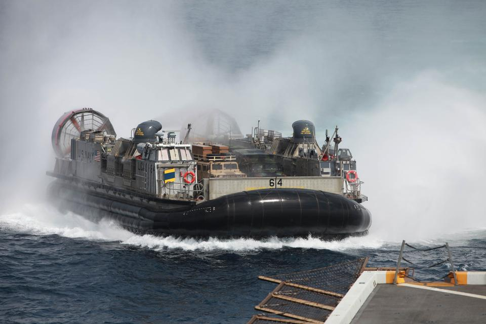 US Navy Hovercraft Transport Marines