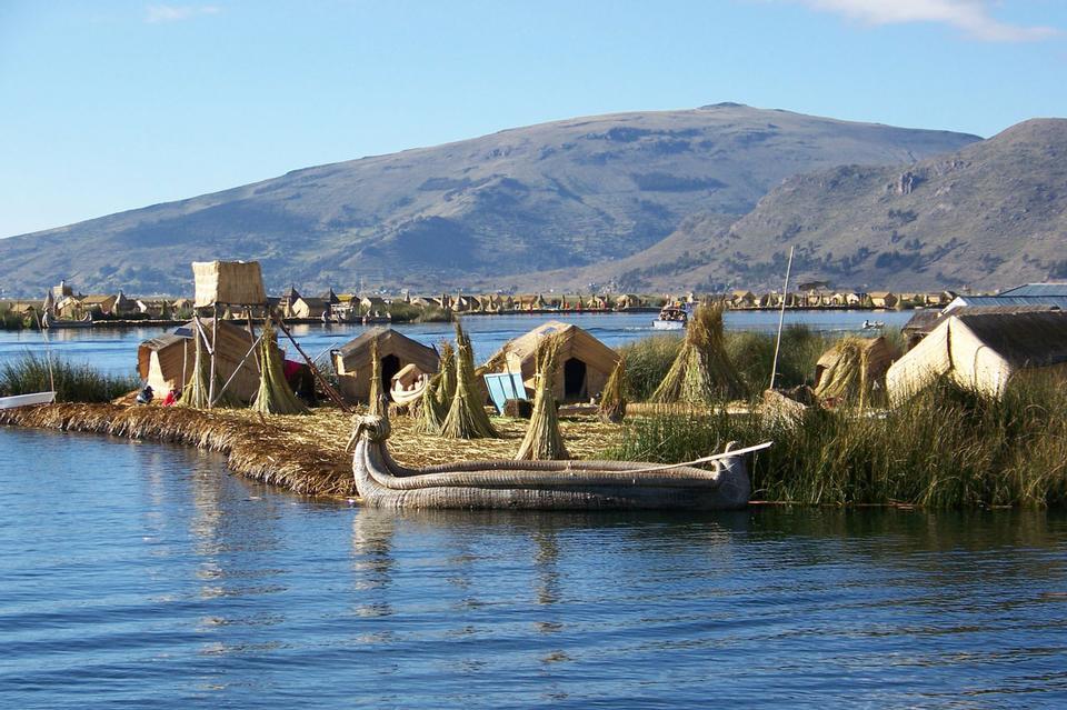 Insel am Titicaca-See Peru