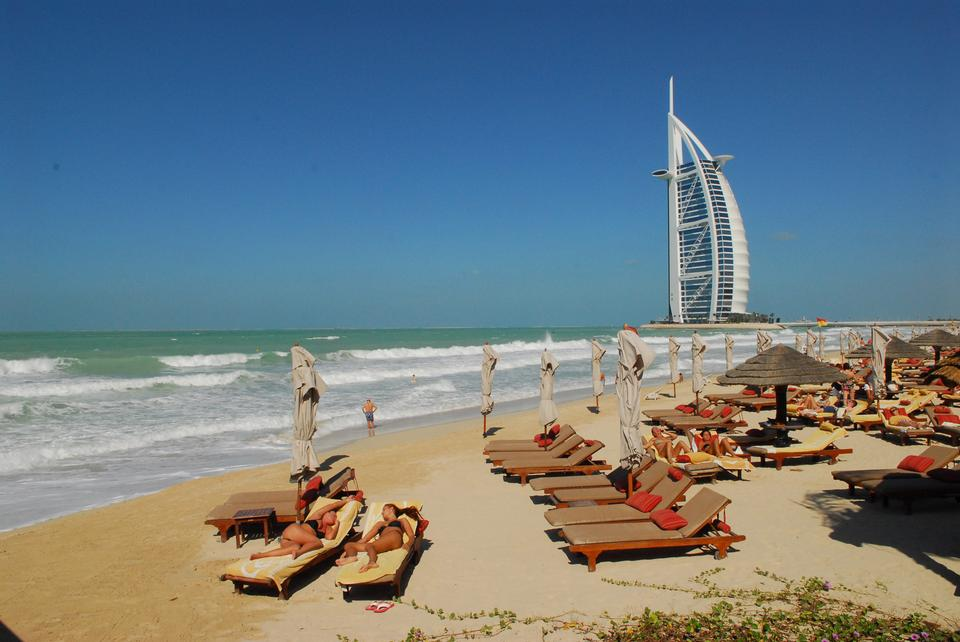 Burj Al Arab Beach In Dubai