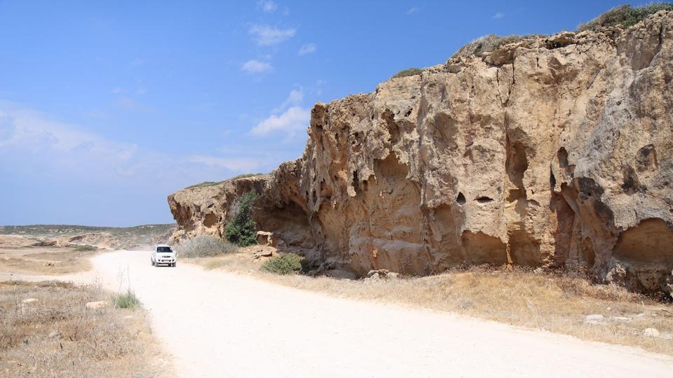砂岩岩阿卡马斯公园 - 塞浦路斯