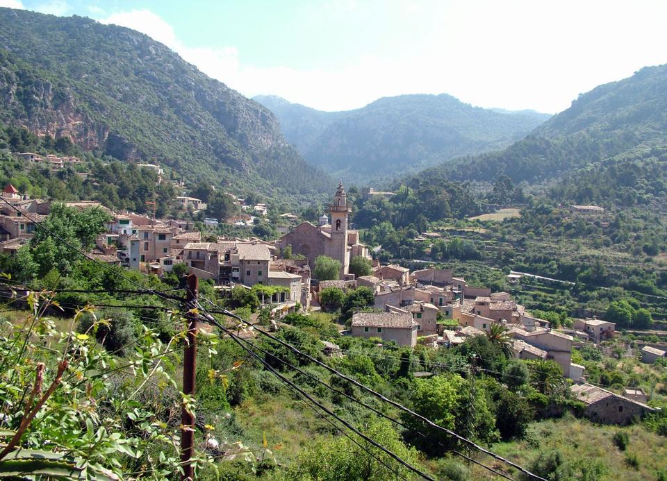Lugares rurales en la aldea Mallorca en España
