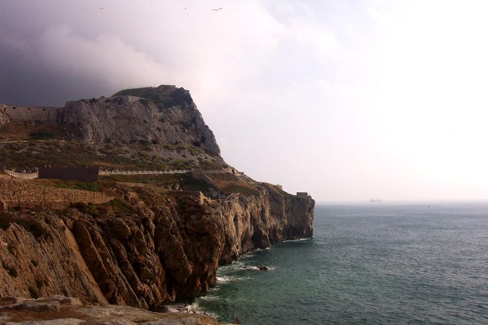 La route vers le rocher de Gibraltar