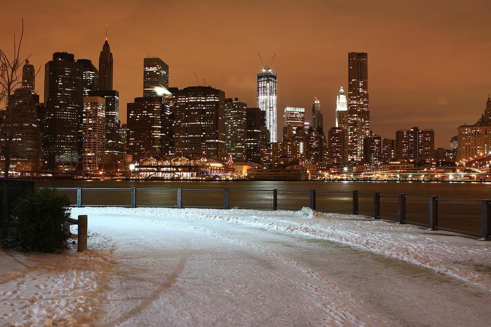 雪と冬のニューヨーク