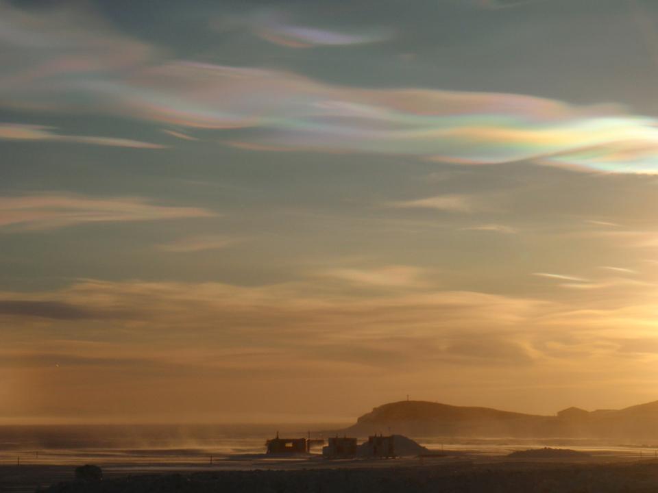 Light from the sky,iridescent cloud