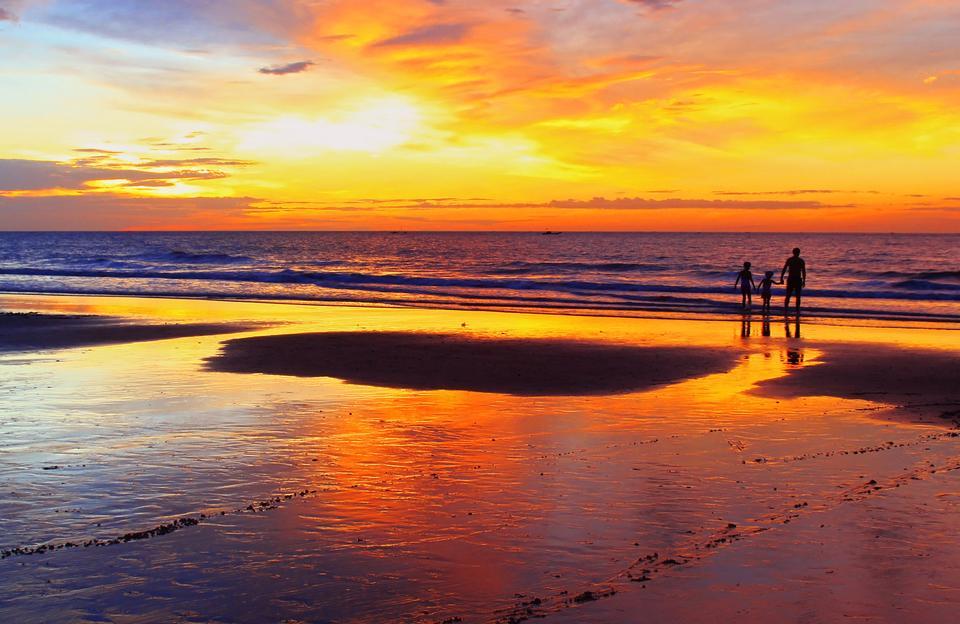 bunten Himmel kurz vor Sonnenaufgang