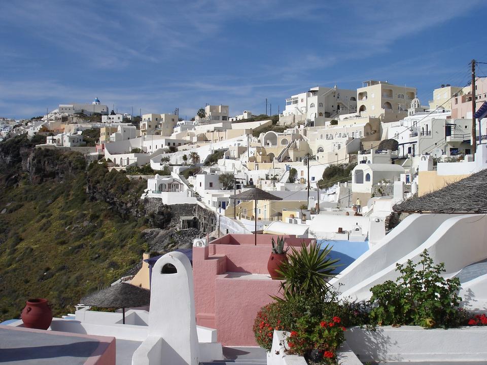 Firostefani, village in Santorini, Greece