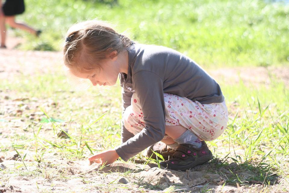 petite fille dans la forêt le jour d'été