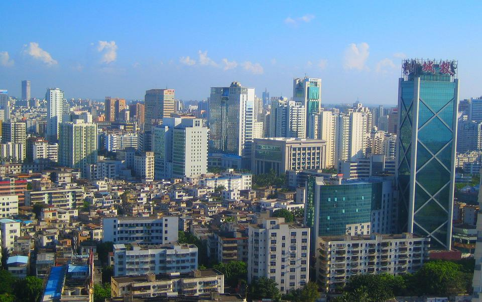 Haikou skyline, Hainan Province, China