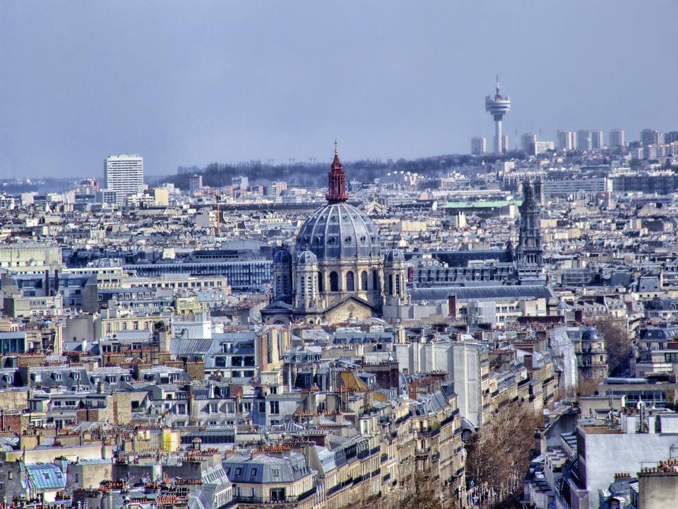 Paysage urbain de Paris France