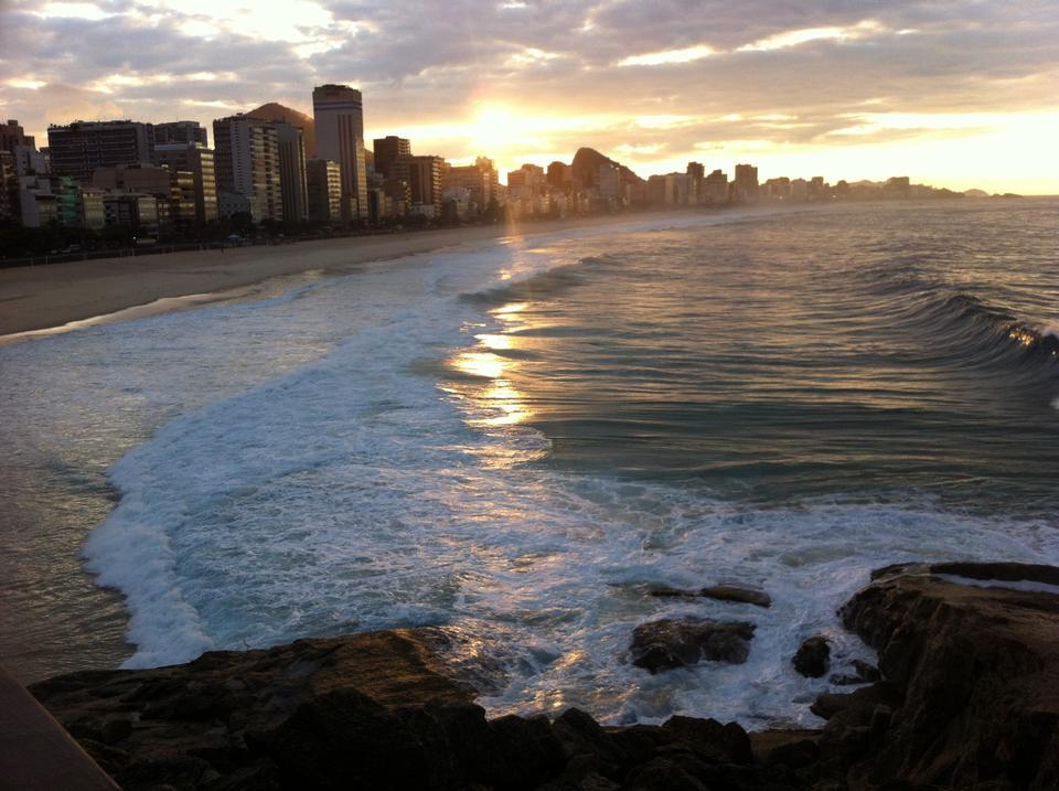 Copacabana Beach Sunrise  Rio De Janeiro