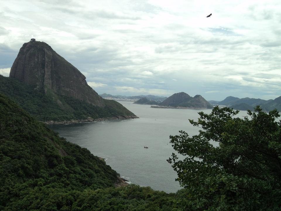 Rio de Janeiro, Brazil. Suggar Loaf and Botafogo beach