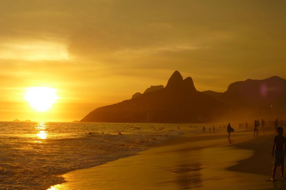 Sunset of Ipanema Beach - Rio de Janeiro