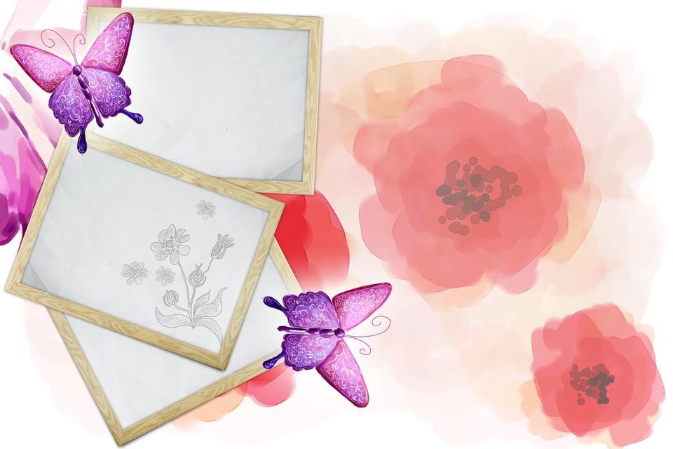 复古粉红色的背景与框架