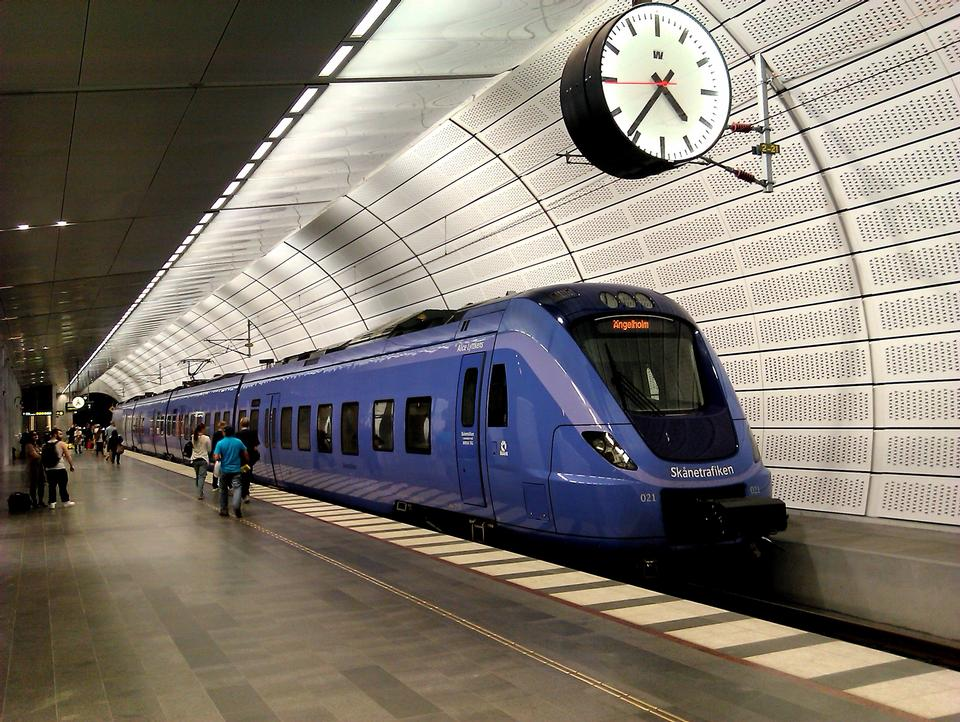地铁站台瑞典