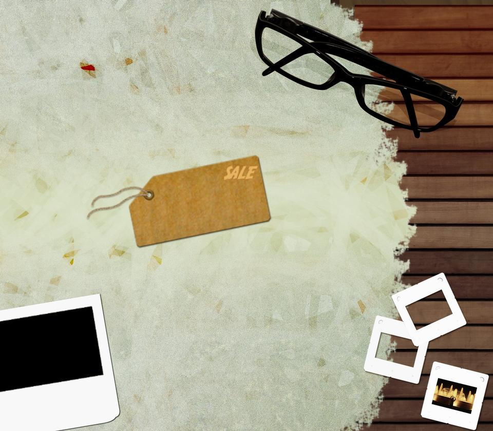 Glasses Ad poster template