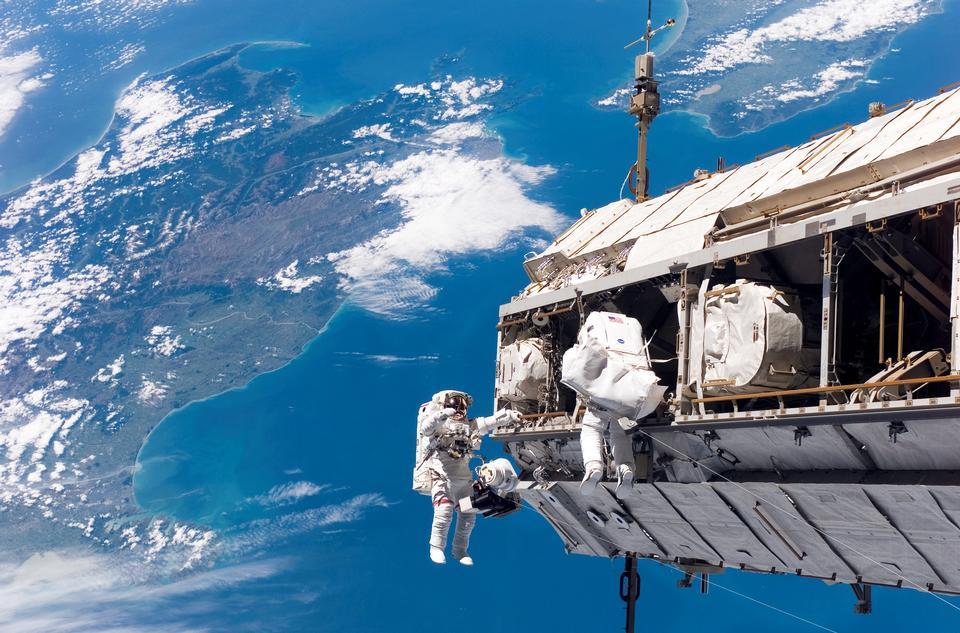 NASA y el astronauta Espacial Europea