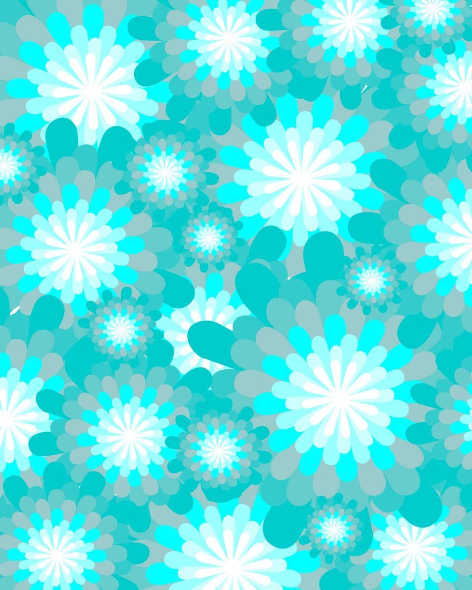 冰蓝色的花