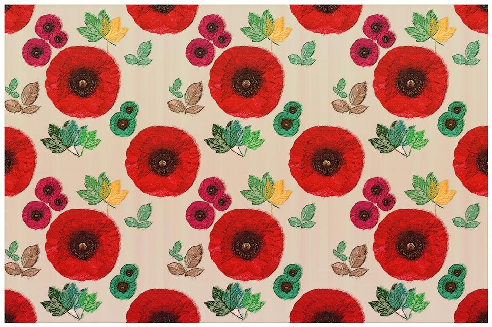 罌粟花圖案