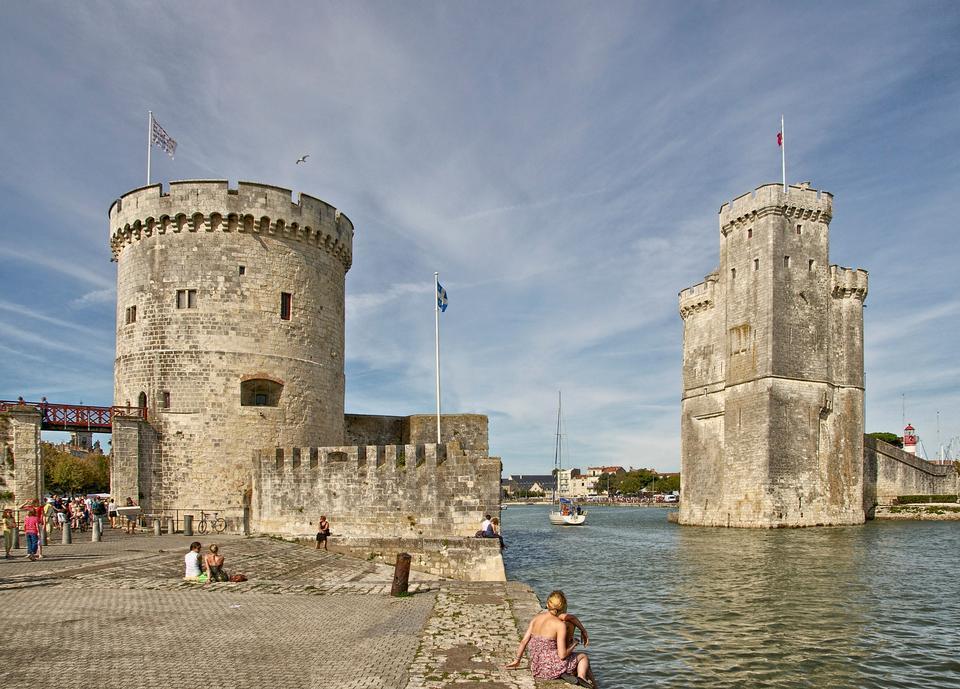 La Rochelle, entrance to the Old Port