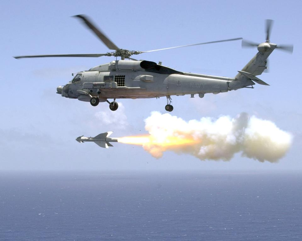 Helicopter Antisubmarine Light Five One fires an AGM-119