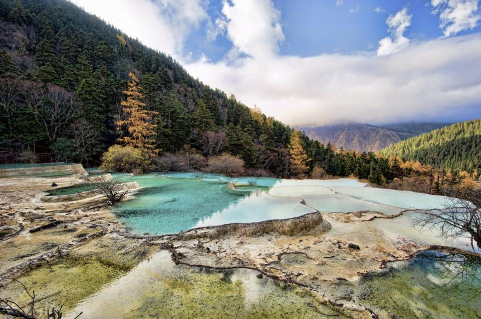Huanglong Mehrfarbbecken Sichuan China