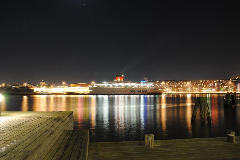 夜景瑞典哥德堡