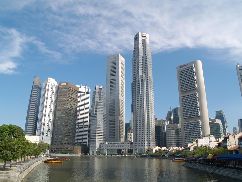Singapour toits de la ville