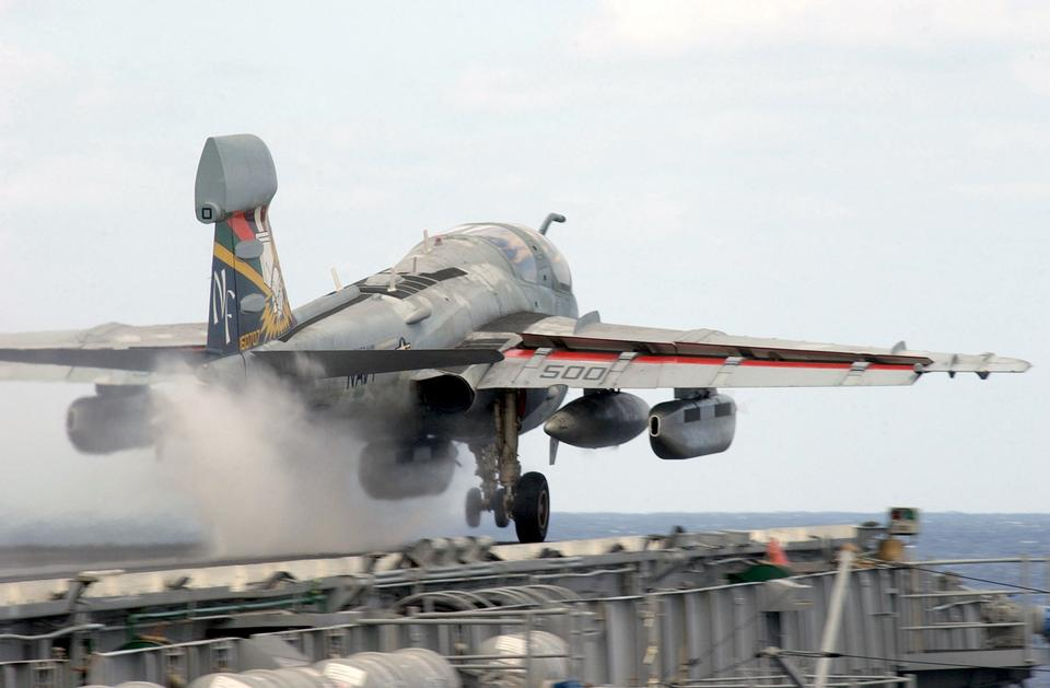 An EA-6B Prowler assigned to the Gauntlets of Tactical Electroni