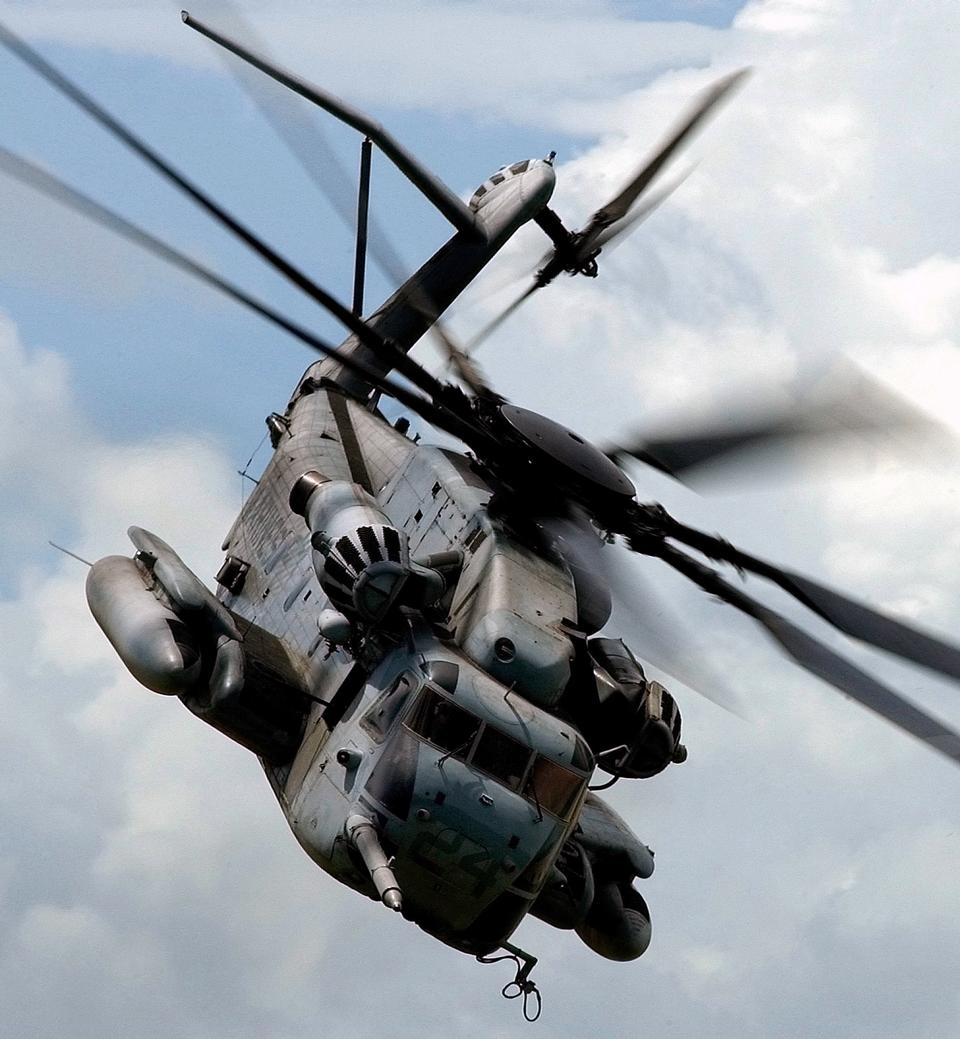 A CH-53E Sea Stallion assigned to the Heavy Haulers of Helicopter