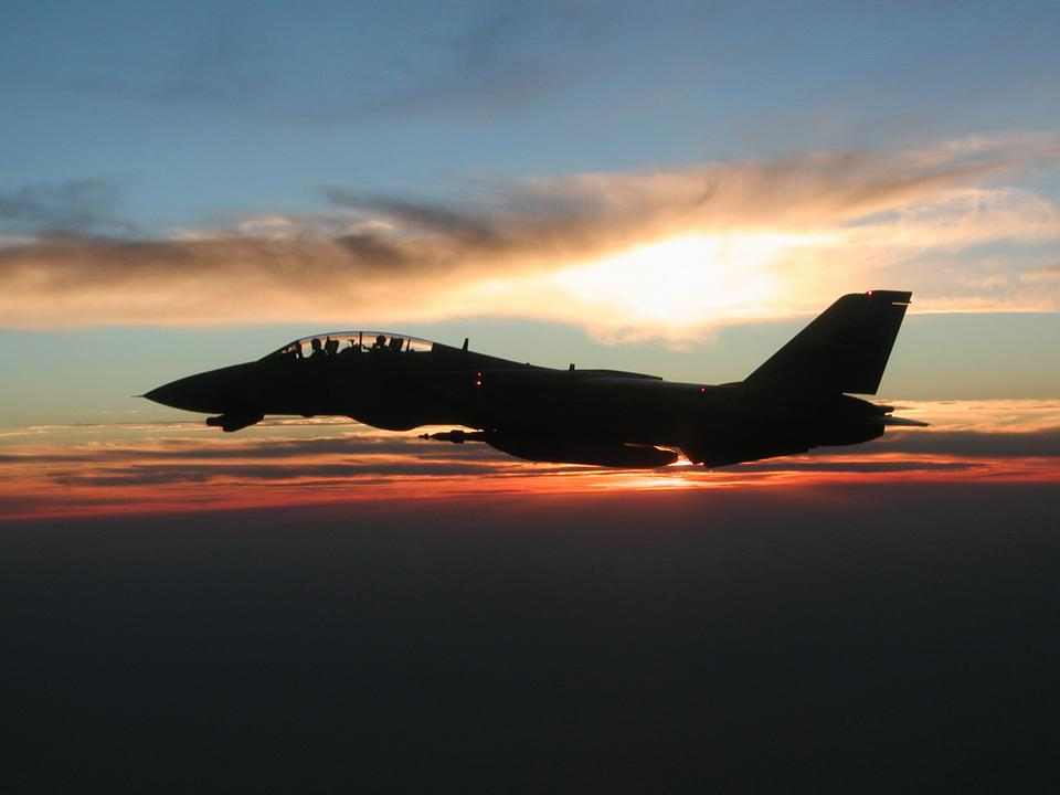 An F-14D Tomcat assigned to the Tomcatters of Fighter Squadron