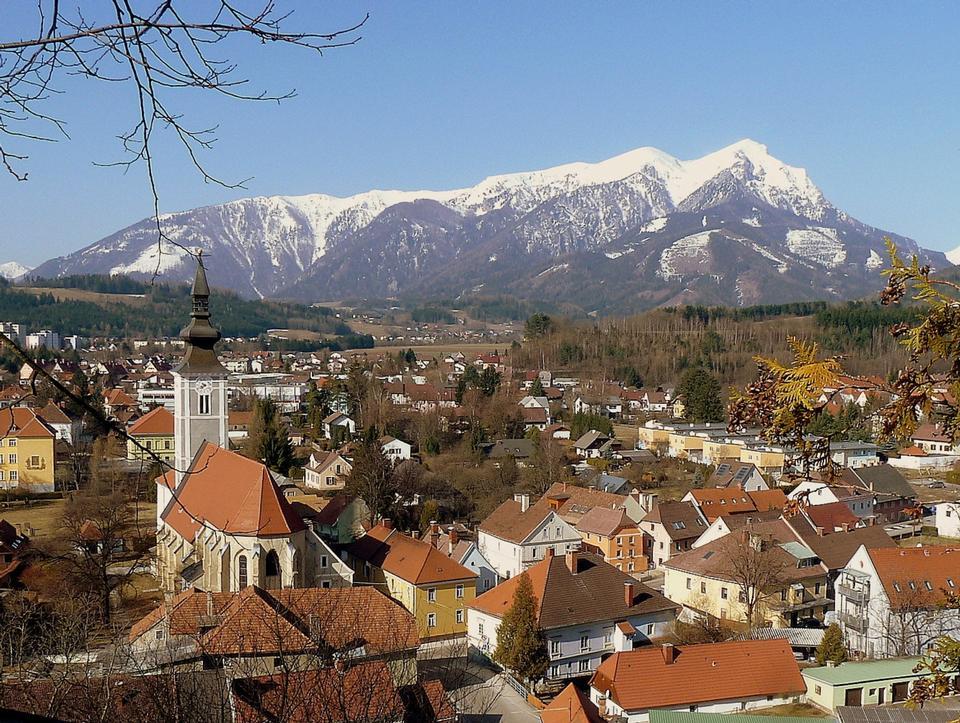 Paysage d'hiver Trofaiach Autriche