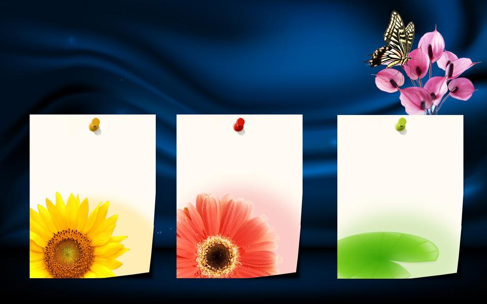 背景のための3つの色のポストイット